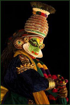 A Kerala Kathakali performer as Krishna Jaisalmer, Udaipur, Kathakali Face, Playhouses For Sale, Krishna Avatar, Kerala Mural Painting, Artist Painting, Indian Classical Dance, Bollywood