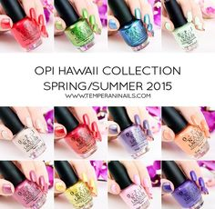 Opi Spring 2015 Hawaii Collection Swatched