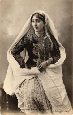 Algerian woman from algier Vintage Photos Women, Vintage Pictures, Turkish Fashion, Traditional Dresses, Beautiful Outfits, Erotic, Costumes, Ebay, Moorish