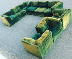 SOLD: Large Milo Baughman Sectional Sofa Thayer Coggin