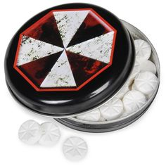 Resident Evil Outbreak Mints Candy Tin...so perfect! $3.20 each @Birthday Express.com