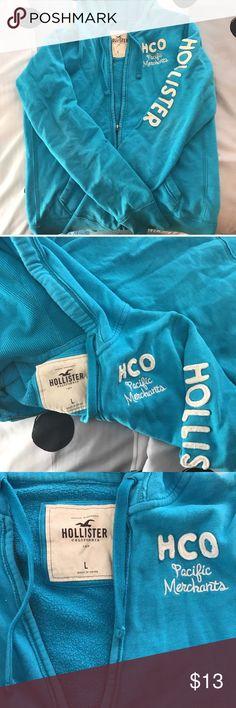 LARGE BLUE HOLLISTER JACKET Size large, blue, hollister jacket Hollister Sweaters