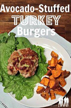 avocado stuffed turkey burgers