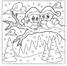 Die 42 Besten Bilder Von Ausmalbilder Winter Coloring Pages Print