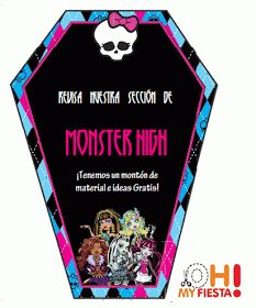 Ideas y material gratis para fiestas y celebraciones Oh My Fiesta!: Kit de Monster High para Imprimir Gratis.