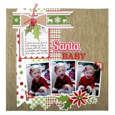 memory keepers scrapbook layouts | Layout: Santa Baby featuring Yuletide from We R Memory Keepers