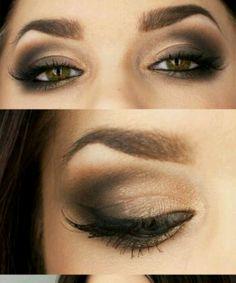 Brown sugar eye makeup