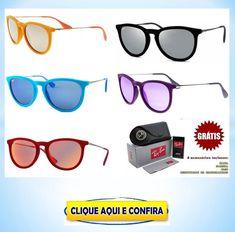 89642d74e Óculos de sol feminino Rayban Erika várias cores baratos com super promoção!