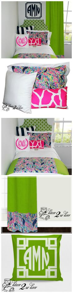 Complete dorm bedding packages from Stylish & cute dorm room bedding collections complete w/ throw pillows, duvet cover, bed skirt, headboard & more! Dorm Room Bedding, Teen Bedding, Teen Bedroom, Bedroom Ideas, Preppy Dorm Room, Cute Dorm Rooms, Cool Beds For Boys, Twin Xl Bedding Sets, Teen Room Makeover