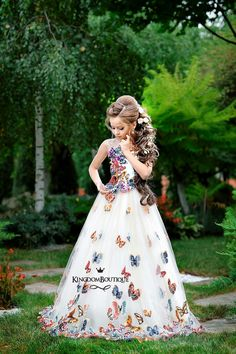 Girls Pageant Dresses, Gowns For Girls, Girls Formal Dresses, Ball Dresses, Ball Gowns, Cute Little Girl Dresses, Cute Dresses, Beautiful Dresses, Flower Girl Dresses