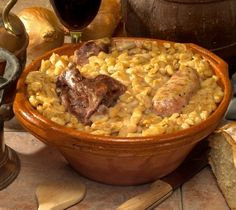 Le cassoulet, one of the most delicious, rich country dishes imaginable.