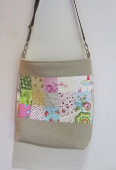 Quilted Crossbody Bag Zipped Bag Scraps Patchwork by patchawork, £30.00