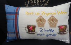 Koffietijd! French Country, Cushions, Throw Pillows, Pipes, Hobby Craft, Toss Pillows, Toss Pillows, Pillows, Decorative Pillows