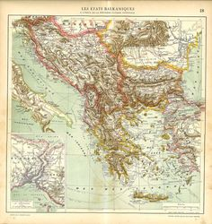 Map of the Balkan Peninsula after the First World War