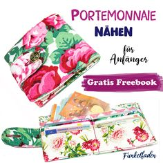 Free sewing instructions sew wallet - Freebook for sewing for beginners quickly and easily The wallet is super easy to sew and ideal as a sewing project for beginners. In the finished wallet Easy Sewing Projects, Sewing Projects For Beginners, Sewing Hacks, Sewing Tutorials, Sewing Crafts, Sewing Tips, Wallet Sewing Pattern, Sewing Patterns Free, Free Sewing
