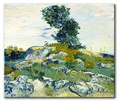 MU_VG2078 t_Van Gogh _ The Rocks / Cuadro Arte Famoso, las Rocas