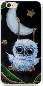 - Birds, butterflies in art - Owl and moon Owl Bird, Bird Art, Owl Pictures, Bild Tattoos, Beautiful Owl, Cute Owl, Art Portfolio, Painted Rocks, Painting & Drawing
