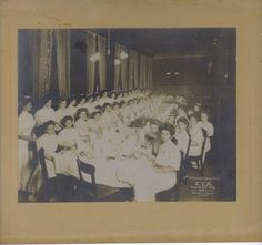 Check out the lovely ladies who attended the Fourth National ZTA Convention in Fayetteville, AR, in 1908.
