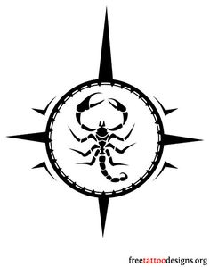 Tribal scorpion tattoo design