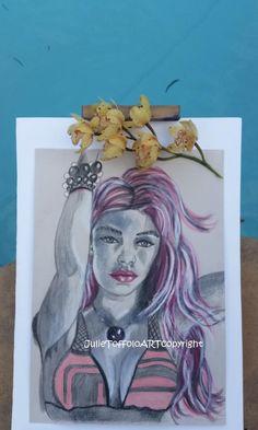 Bikini Girl - Original Gouache on paper by JulieToffoloART on Etsy