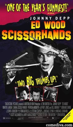 Movie Week's coming to an end, but today we present our Movie Mashup winner!   Movie Mashup: Ed Wood Scissorhands