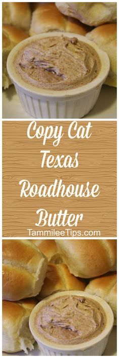 How to make copy cat Texas Roadhouse Butter at home! This copycat recipe is so easy to make. Pair with rolls for a simple family meals! via @tammileetips