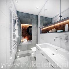 Łazienka 5 m2 - zdjęcie od HUK atelier - Łazienka - Styl Nowoczesny - HUK atelier