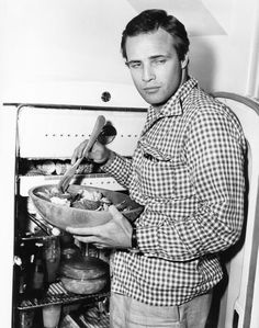 Close your eyes: it's July 1, 1954 and Marlon Brando is inside in the kitchen making you a fresh salad as you lounge by the pool. It could have happened...