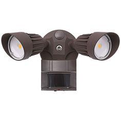 "Eco-Star 13""W Bronze Motion Sensor LED Security Light - Style # 1G657"