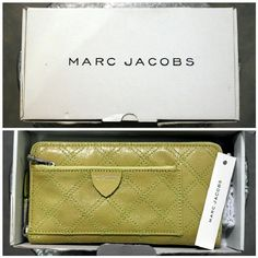 (NWT) Marc Jacobs 'the Sister' Continental Wallet! Brand new in box, new with tags & never used, this immaculate wallet from Marc Jacobs (NOT Marc for Marc Jacobs) is loud, fun and perfect for summer! Never lose your wallet again in the depths of your purse - you can't miss the gorgeous leather in bright acid green. Wallet has TONS of room, w/ a front zip compartment & multiple credit card slots, money sections & zip coin pouch inside. See photos. Reasonable offers accepted! *TRADE VALUE…