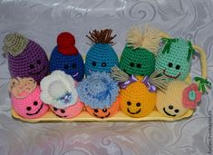 Knitting Patterns Funny Preparing for the holiday: we knit funny Easter eggs . Funny Easter Eggs, Knitting Patterns, Crochet Hats, Merry, Sewing, Holiday, Handmade, Free, Masters