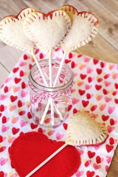 gluten free vegan strawberry heart pie pops