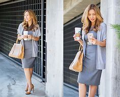 The Ambitionista - Piol Custom Fit Dress, Fendi Handbag - Coffee Break Corporate Chic, Fendi Dress, Office Looks, City Chic, Coffee Break, Office Wear, Fashion Handbags, Work Wear, Shirt Dress