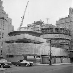 The Guggenheim under construction from 1956-1959. | William H. Short © Solomon R. Guggenheim Museum Archives, New York