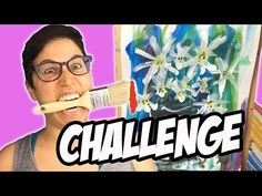 I Painted With My Mouth | Acrylic Art Challenge On Canvas - YouTube Black Acrylic Paint, White Acrylics, Acrylic Art, Acrylic Painting Canvas, Acrylic Painting Tutorials, Painting Videos, Canvas Paper, Art Challenge, Artist At Work