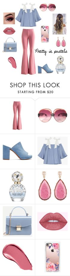 """Pretty in pastels"" by believer94 ❤ liked on Polyvore featuring Fashionomics, Yves Saint Laurent, Robert Clergerie, Marc Jacobs, Jona, Burberry and Casetify"