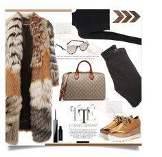 """Airport style"" by d-meggy ❤ liked on Polyvore featuring Roberto Cavalli, Balmain, WALL, Fendi, STELLA McCARTNEY, Givenchy, Citizens of Humanity and Gucci"