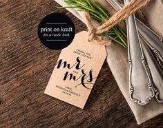 Thank You Wedding Tags Rustic Wedding Tag by BlissPaperBoutique