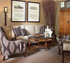 Sophistication even in small living areas.