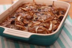 Smothered Salisbury Steaks - really good, love that there is a homemade recipe for the onion soup mix.