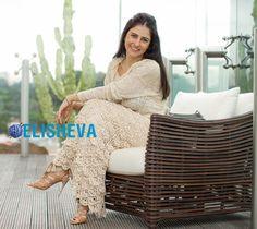 Шикарная длинная юбка от Ванессы Монторо. Бесплатная схема вязания крючком | Блог elisheva.ru