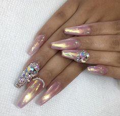 Rose gold chrome and diamonds..