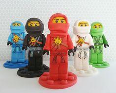 Ninjago lego fondant ninja cupcake and cake toppers image 1 Bolo Ninjago, Ninjago Cakes, Ninjago Party, Minion Cakes, Legos, Ninja Cupcakes, Recipe For Teens, Bowl Cake, Apple Smoothies