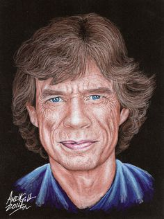 Mick Jagger 001-1 copy by AndyGill1964