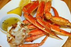 Baked Crab Legs with Garlic Butter