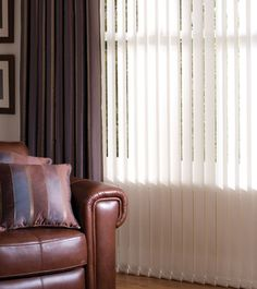 Vertical Blinds With Curtains Privacy Fabric