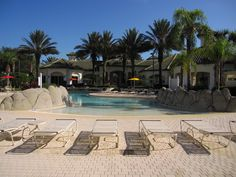 Walk-in beach style swimming pool Vacation Homes For Rent, Condos For Rent, Vacation Home Rentals, Kissimmee Florida, Screened In Patio, Ground Floor, Dune, Swimming Pools, Beach House