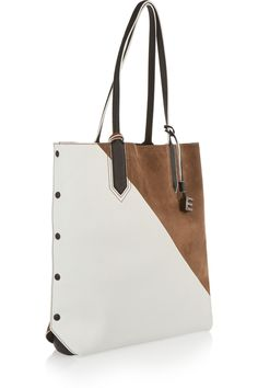 Elizabeth and James - Scott color-block leather and suede tote cc07ecb4dfe94