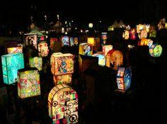 The typical Fasnacht-Ladärne - carnival lanterns.