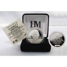 Emmitt Smith 2010 HOF Induction Silver Coin 001